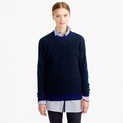 J.Crew - Brushed mohair boyfriend sweatshirt