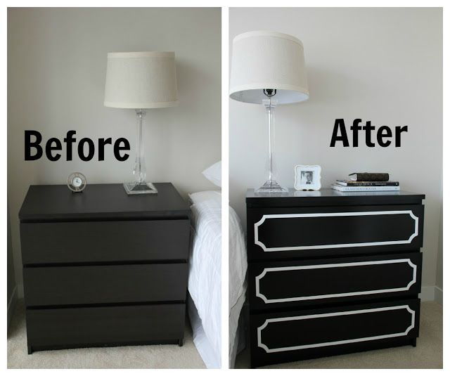Add DIY character to your MALM dresser like our IKEA fan on the @Anna Faunce blog!