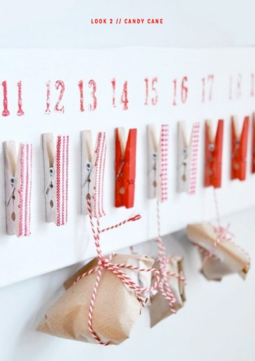 DIY clothespin advent calendar