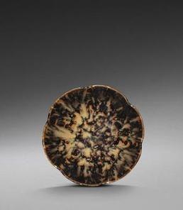 A richly-mottled Jizhou 'tortoise-shell'-glazed five-lobed bowl, Southern Song Dynasty