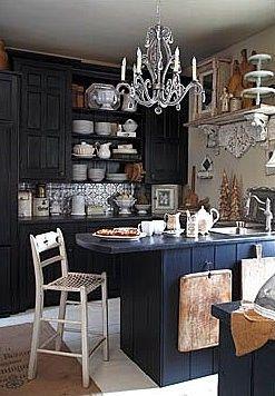 home design, home decor, kitchen, dark paint