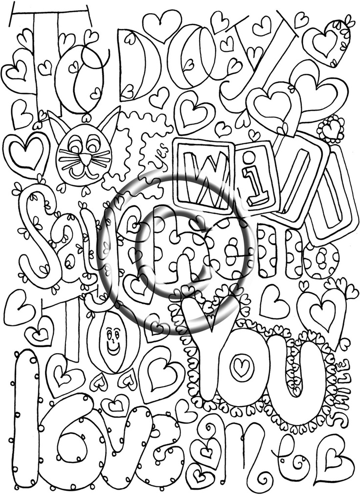 download coloring page hand drawn zentangle inspired psychedelic
