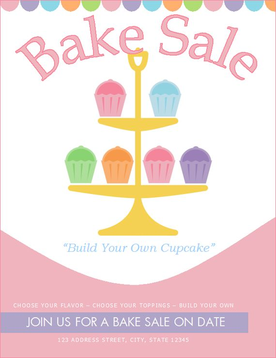 image about Free Printable Bake Sale Signs identify Bake Sale Signal Template. no cost bake sale signs or symptoms and labels