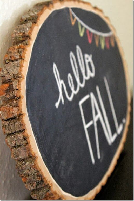DIY Fall Chalkboard. Great for the holidays. I think you should always have a chalkboard