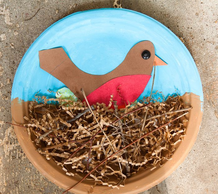 How cute is this art project! Birds and Nests...