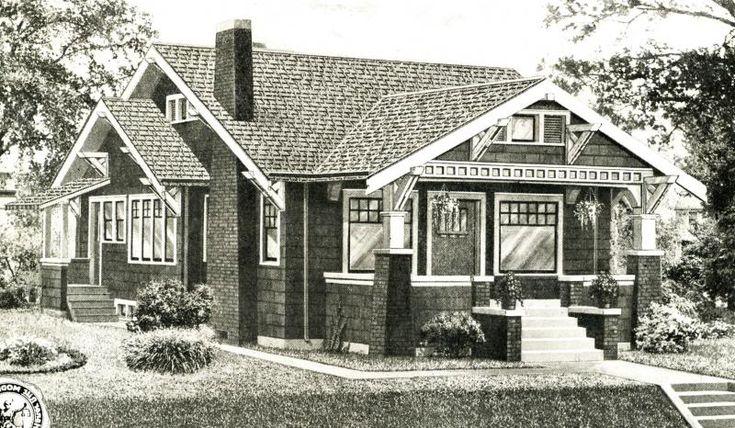 Drawing Craftsman Homes Pinterest