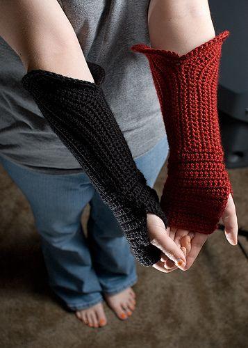 Gauntlet Fingerless Gloves: fp handcozies4