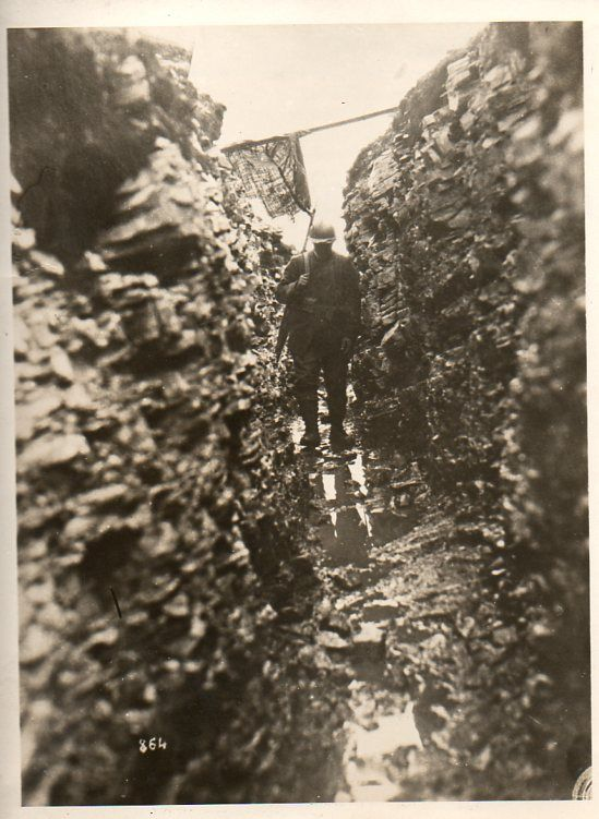 Dark, cold, wet, trench. WWI. 1918.