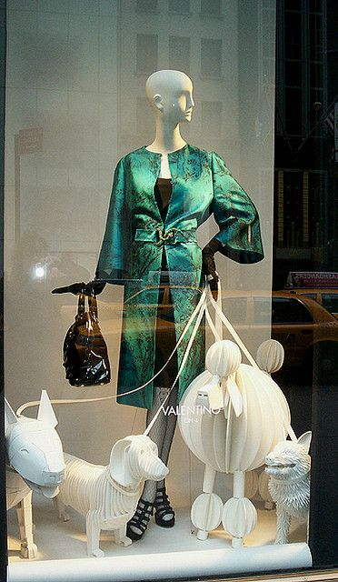 Window display at Bergdorf Goodman.