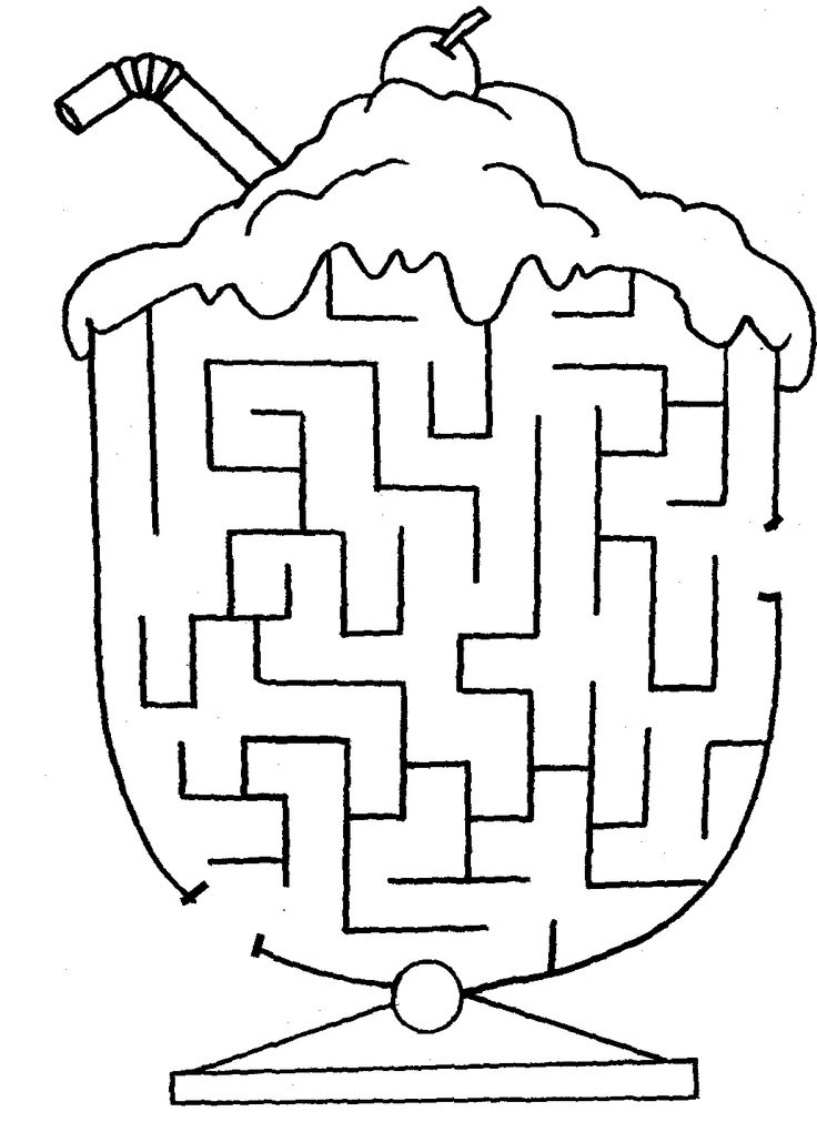 cute easy maze printables coloring pages pinterest