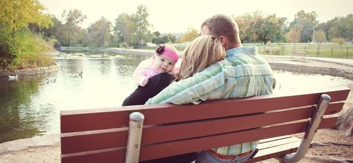 Family of three fall pictures