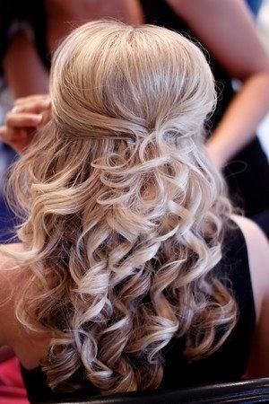 wedding hair half up half down, so hard to decide