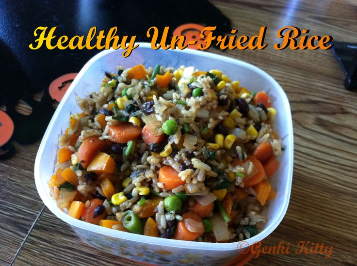 Image of Healthy Un-Fried Rice Recipe
