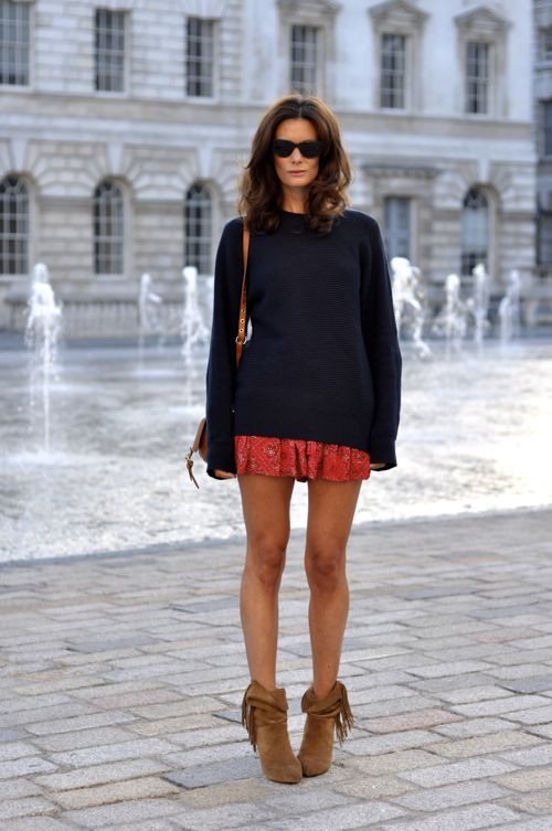 Paisley shorts Isabel Marant, boyfriend's jumper