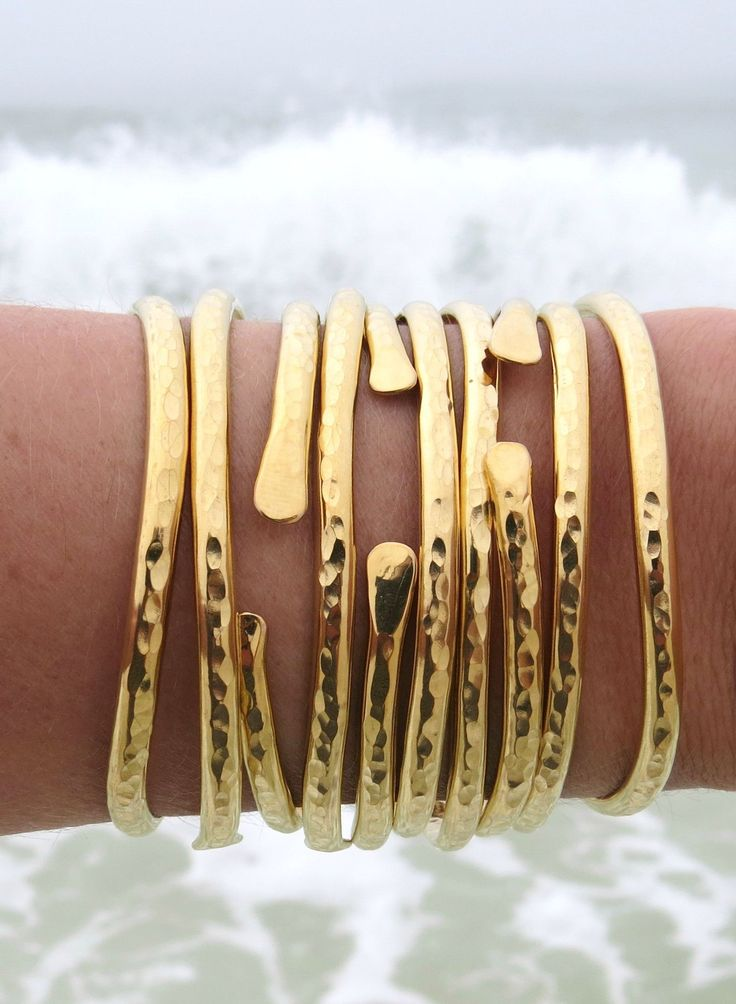 ALL DAY EVERYDAY BEACH JEWELS // GYPSEA Brass Bangle Cuffs  bellabeachjewels.com <---