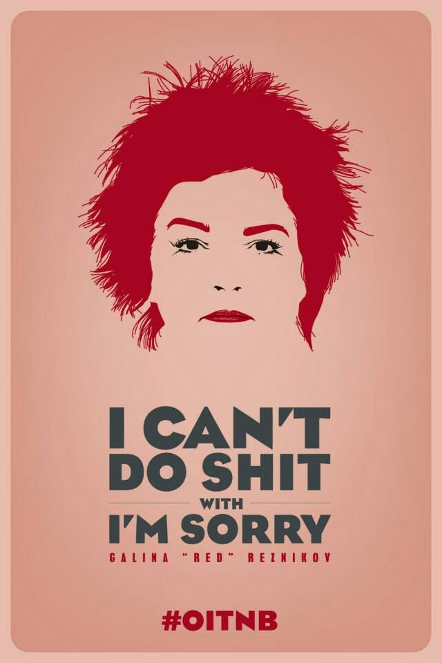 Great graphic poster. And even funnier saying. Orange is the new Black