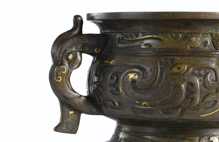 A LARGE GOLD AND SILVER-INLAID BRONZE INCENSE BURNER, GUI<br>LATE MING DYNASTY | Lot | Sotheby's