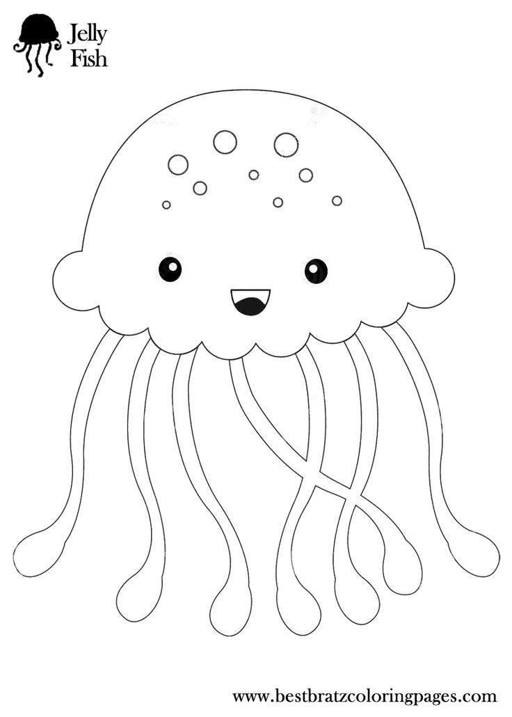 jellyfish colouring pages