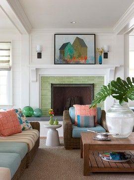 Martha's Vineyard New Summer Residence beach style living room