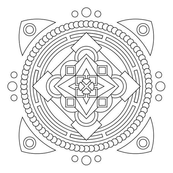 13 Best Fractal Coloring Pages images | Coloring pages, Adult ... | 600x600