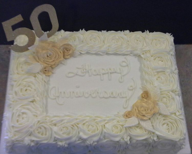 Sheet Cakes 50th Anniversary And Anniversaries On Pinterest
