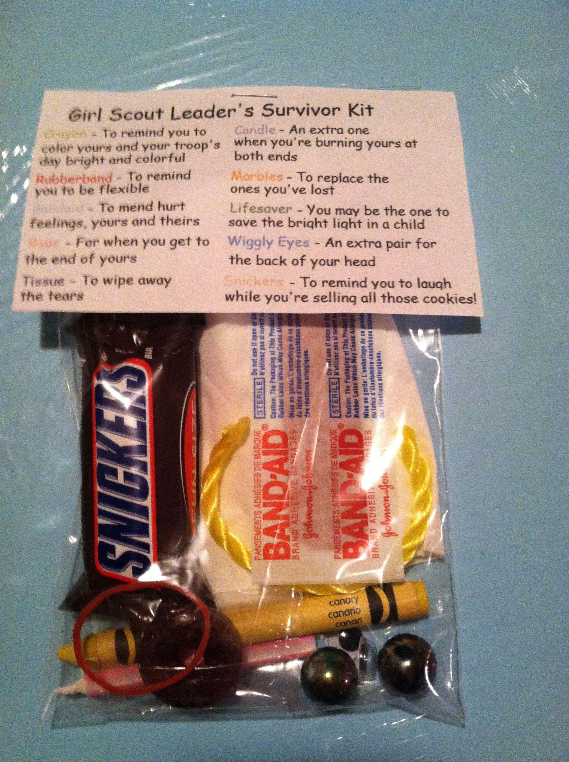 Girl Scout Leader Survival Kit