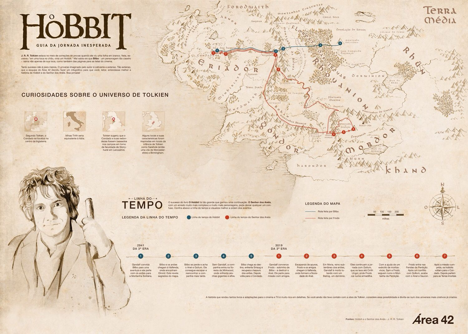Map Of The Middle Earth Hobbit