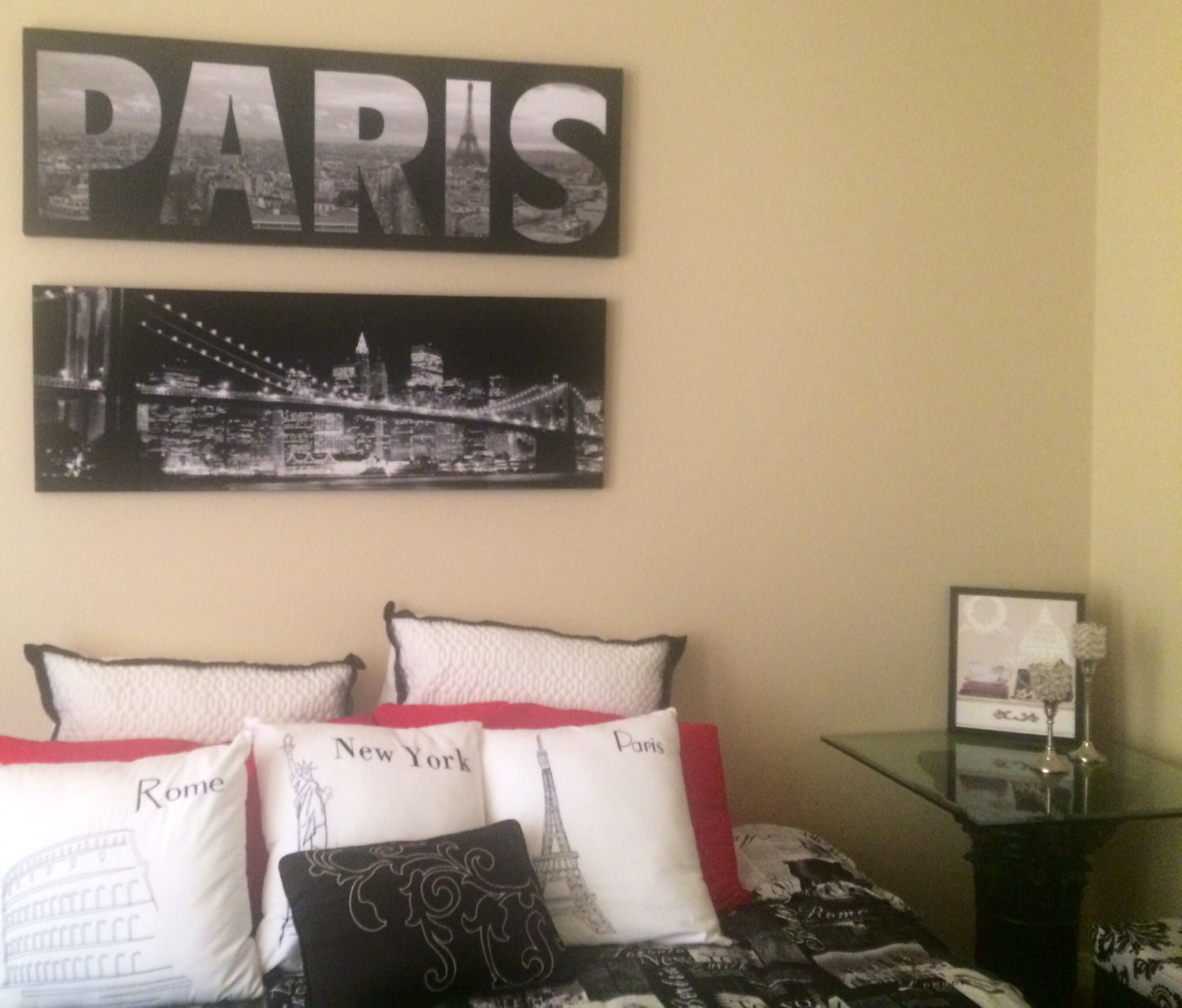 Chambre loft new yorkais for City themed bedroom ideas