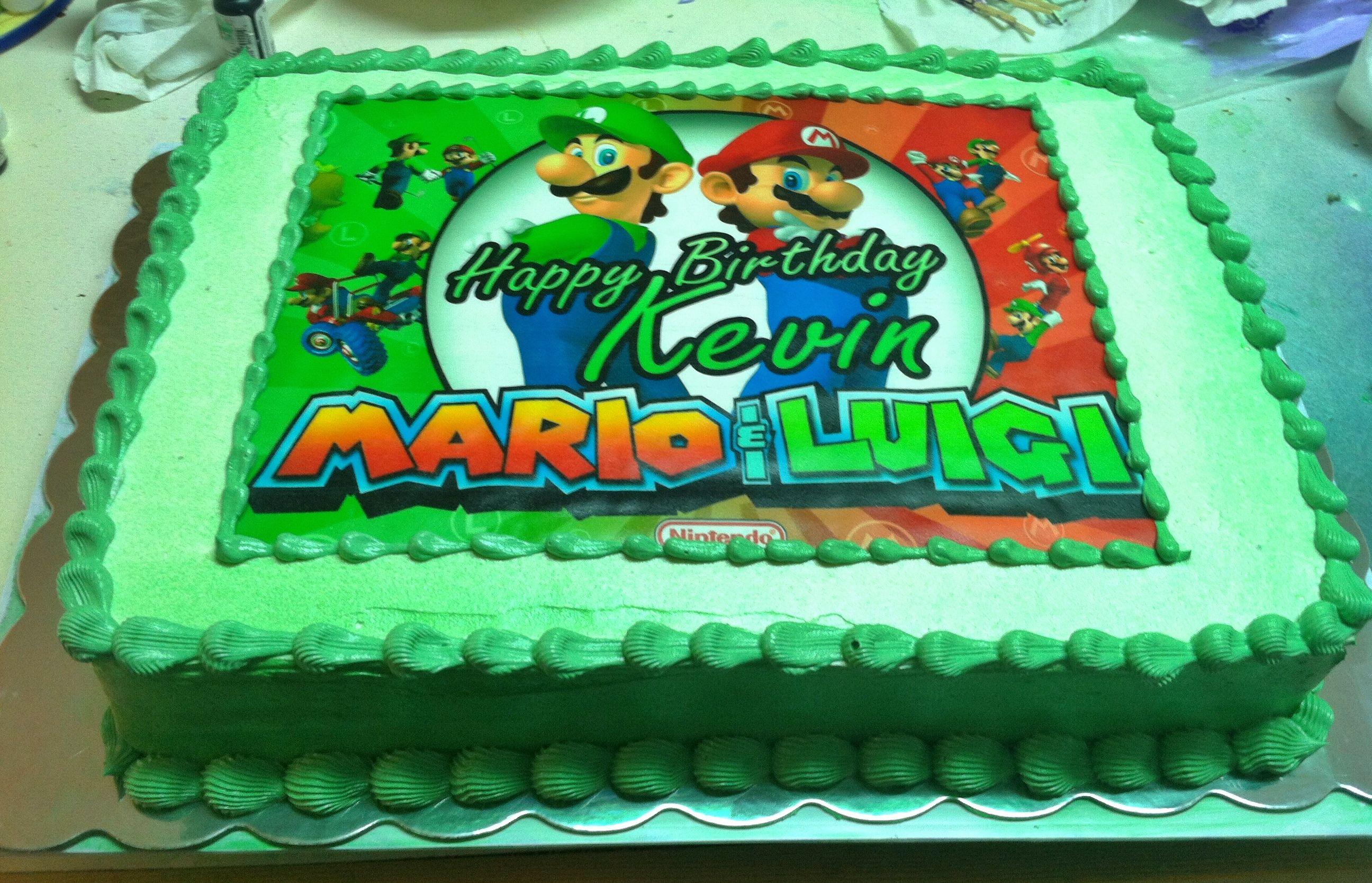 Mario And Luigi Ediblepearls Image Cake