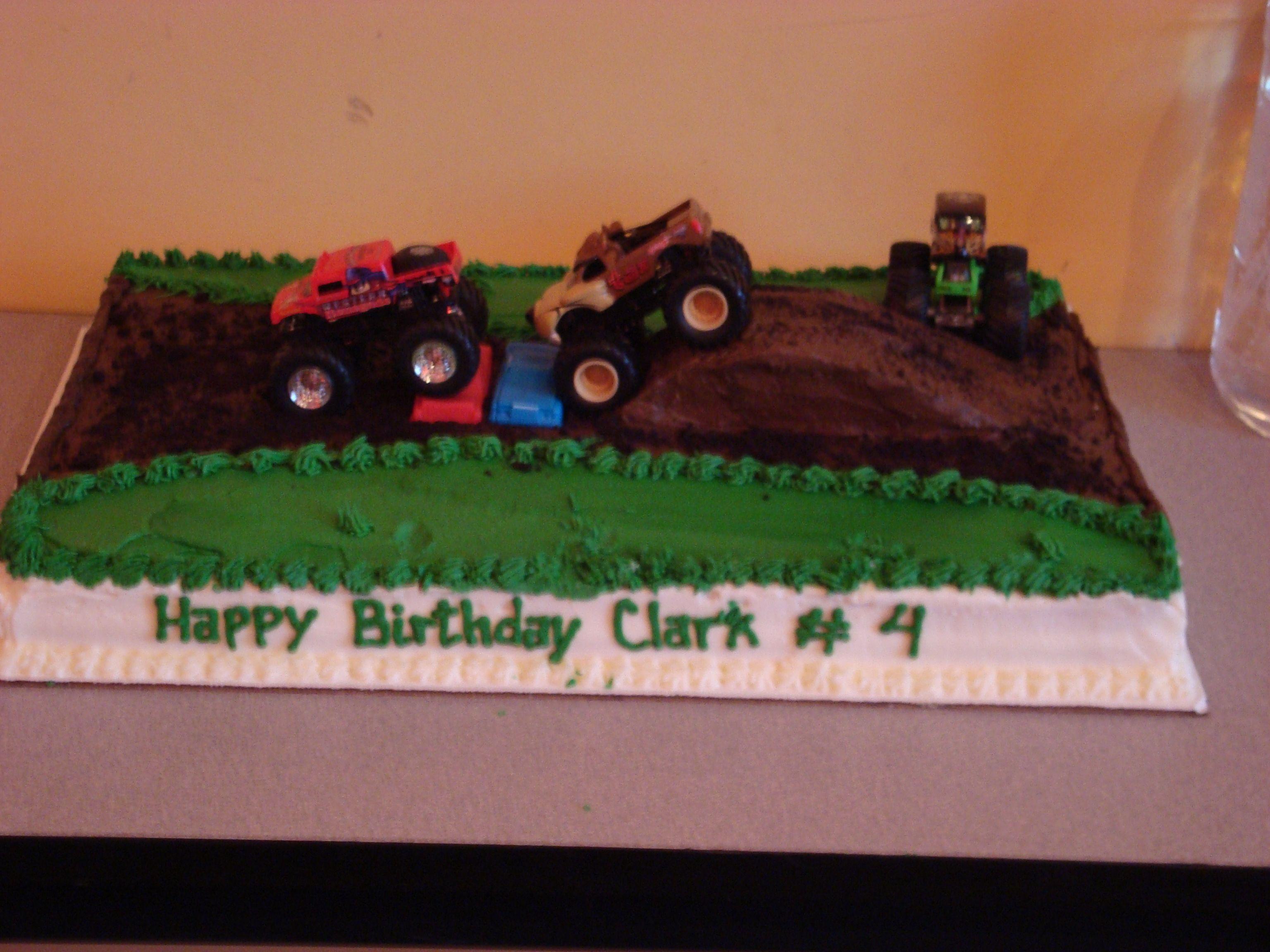 My Sons Monster Truck Birthday Cake