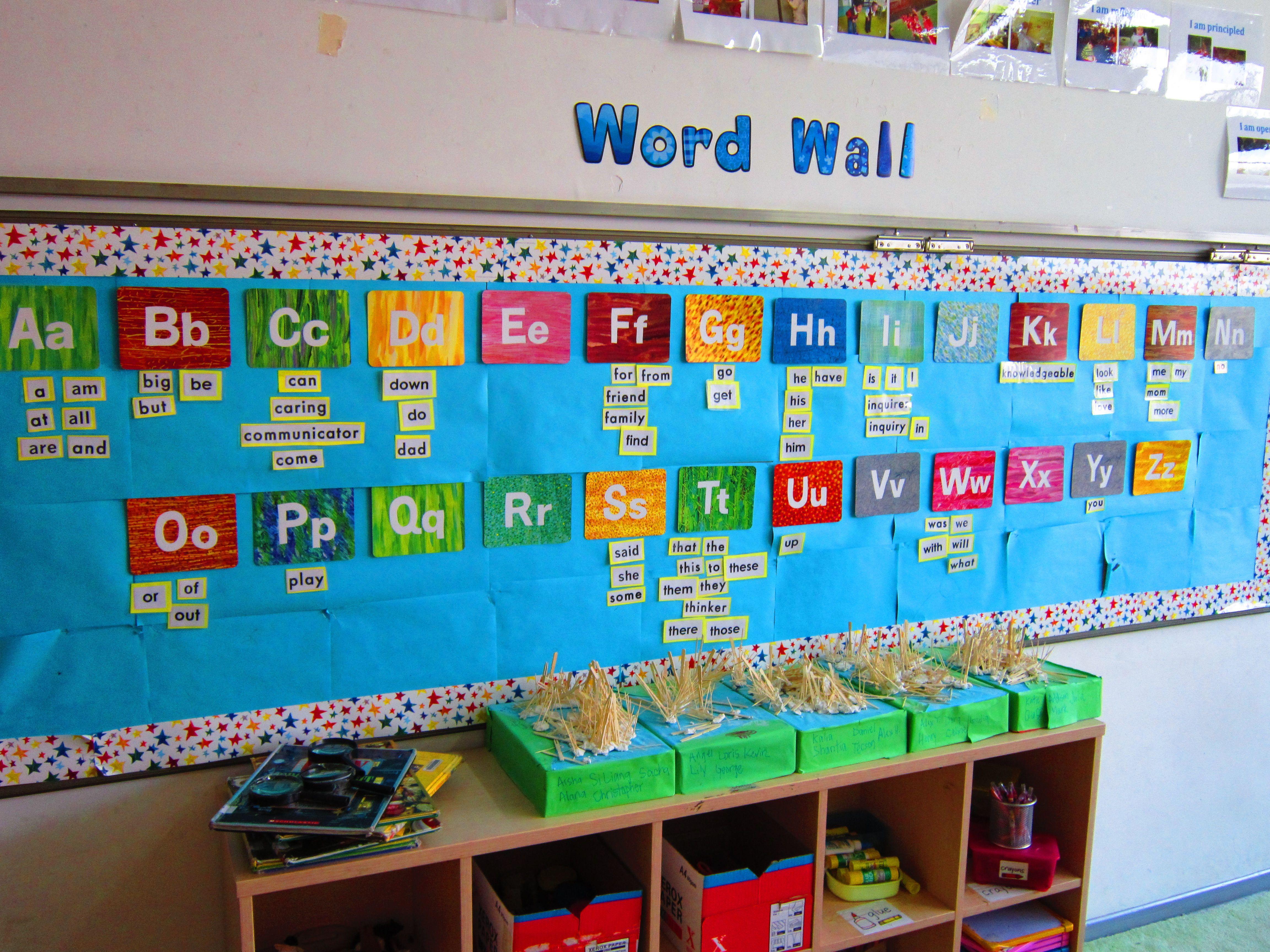Kindergarten Word Wall Eric Carle