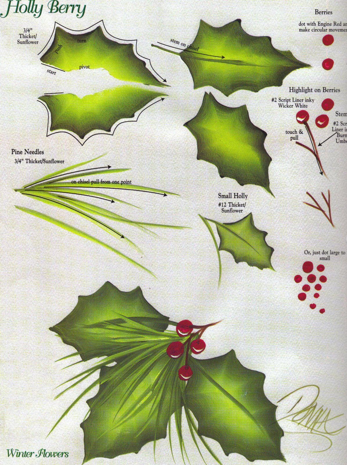 Images About Painting Holly For Christmas
