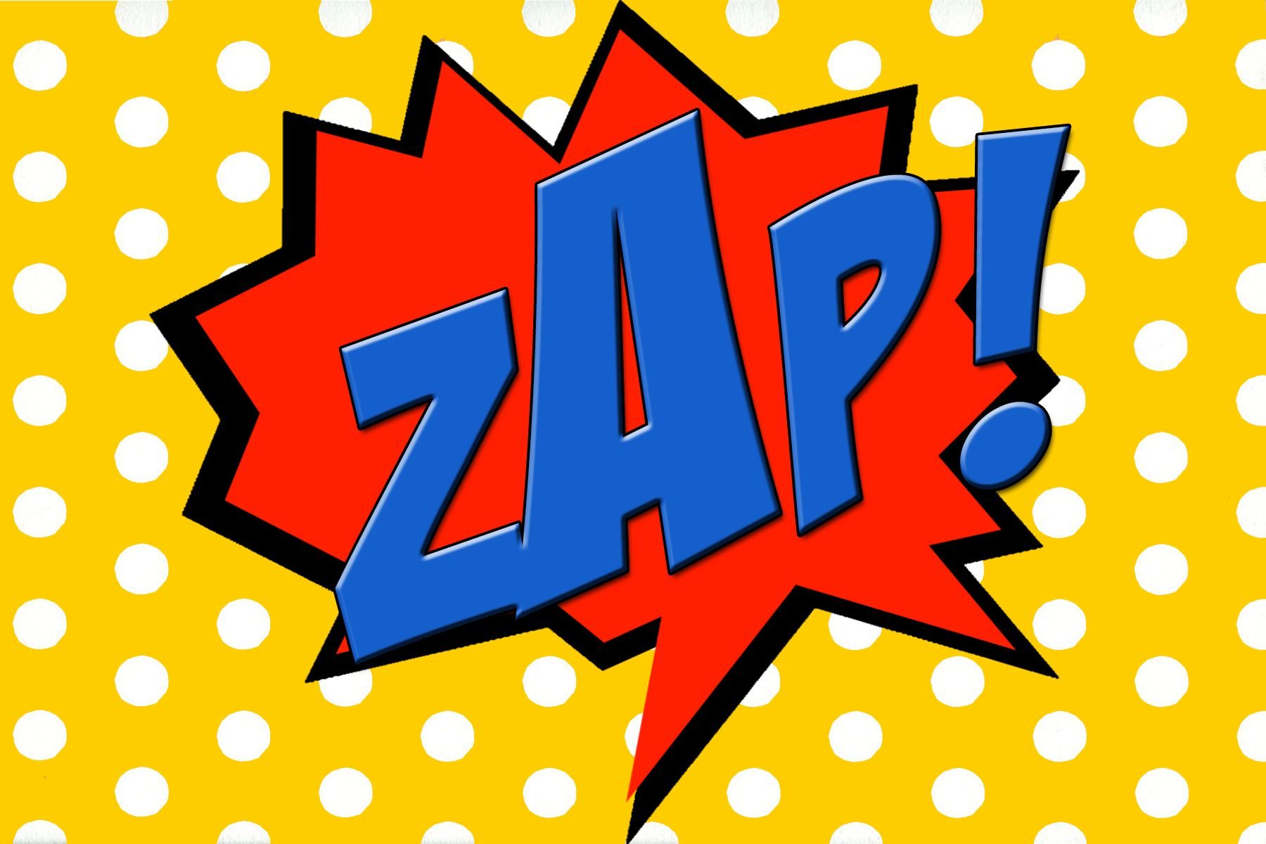 Free Printable Zap Comic Book Word