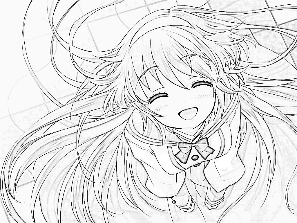 cute anime girl coloring pages printable cooloring com