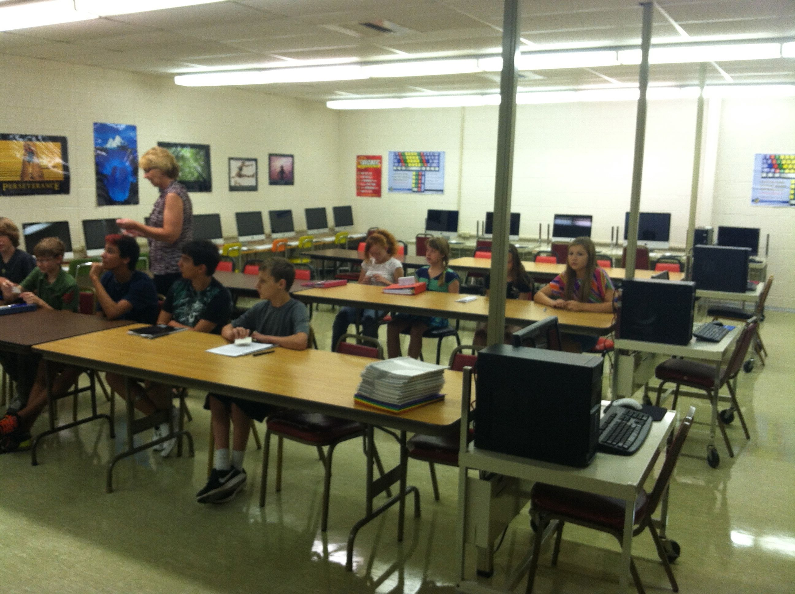 Middle School Computer Class
