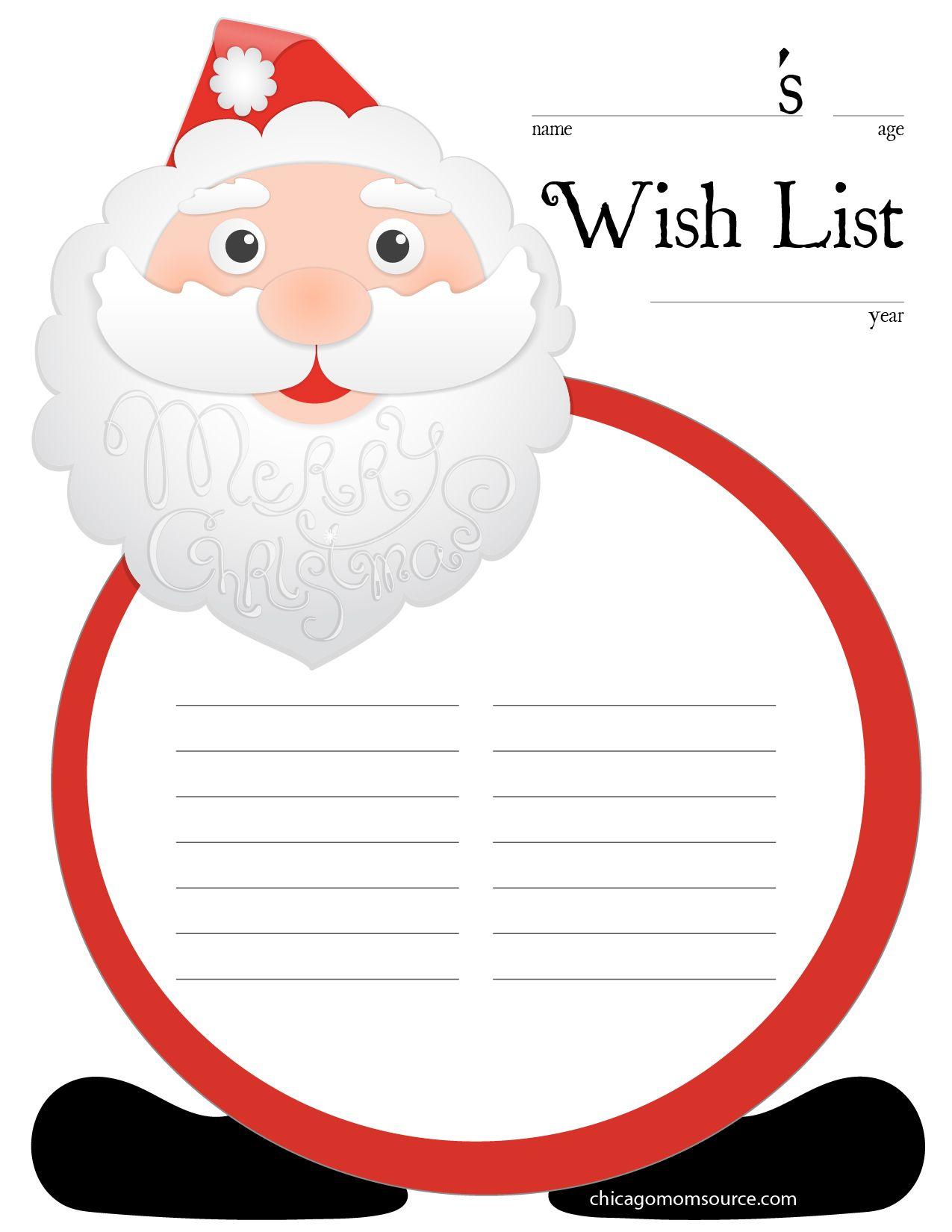 Doc420540 Free Printable Christmas Wish List Template 1000 – Xmas Wish List Template