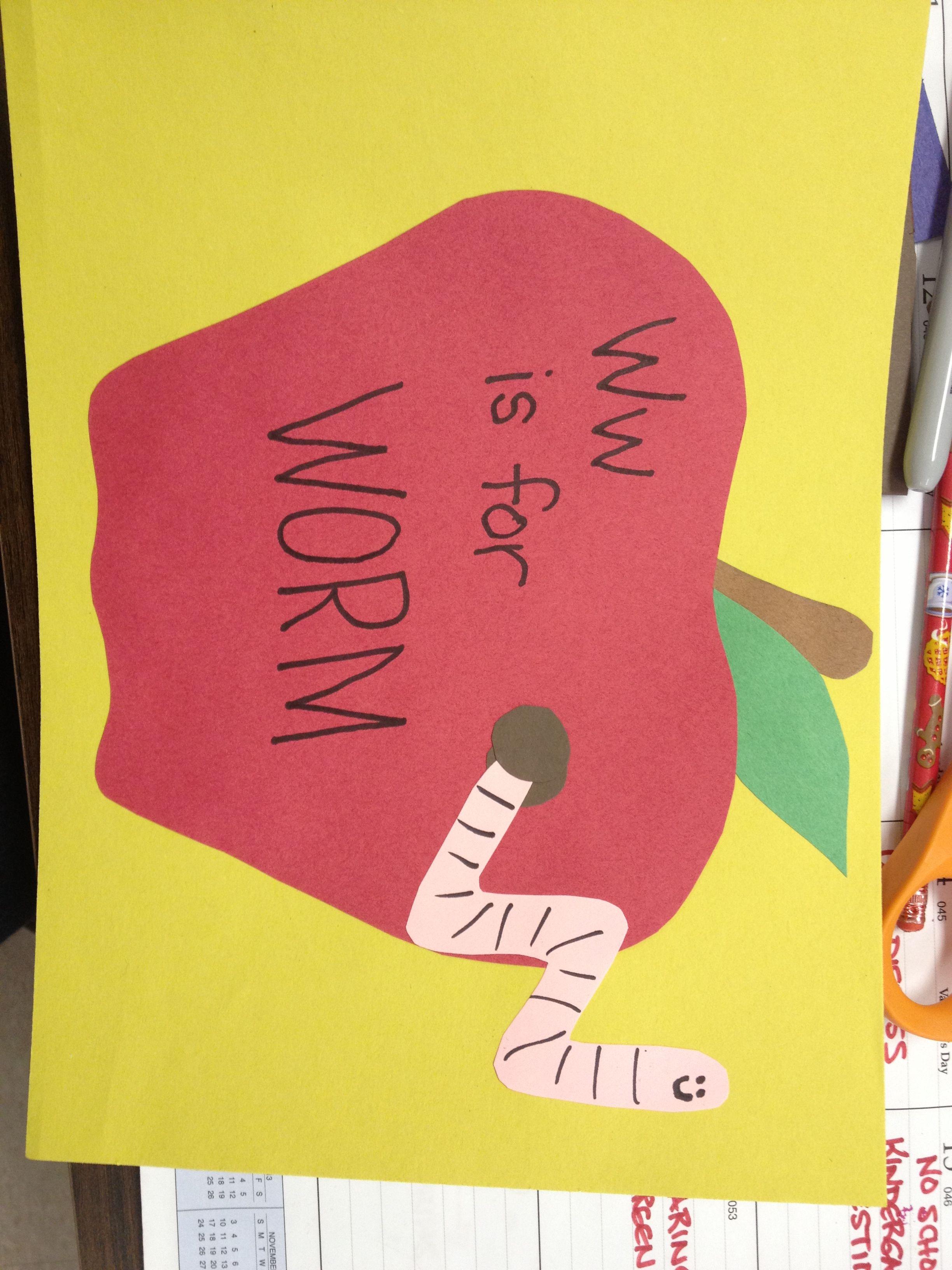 W Is For Worm Preschool Craft