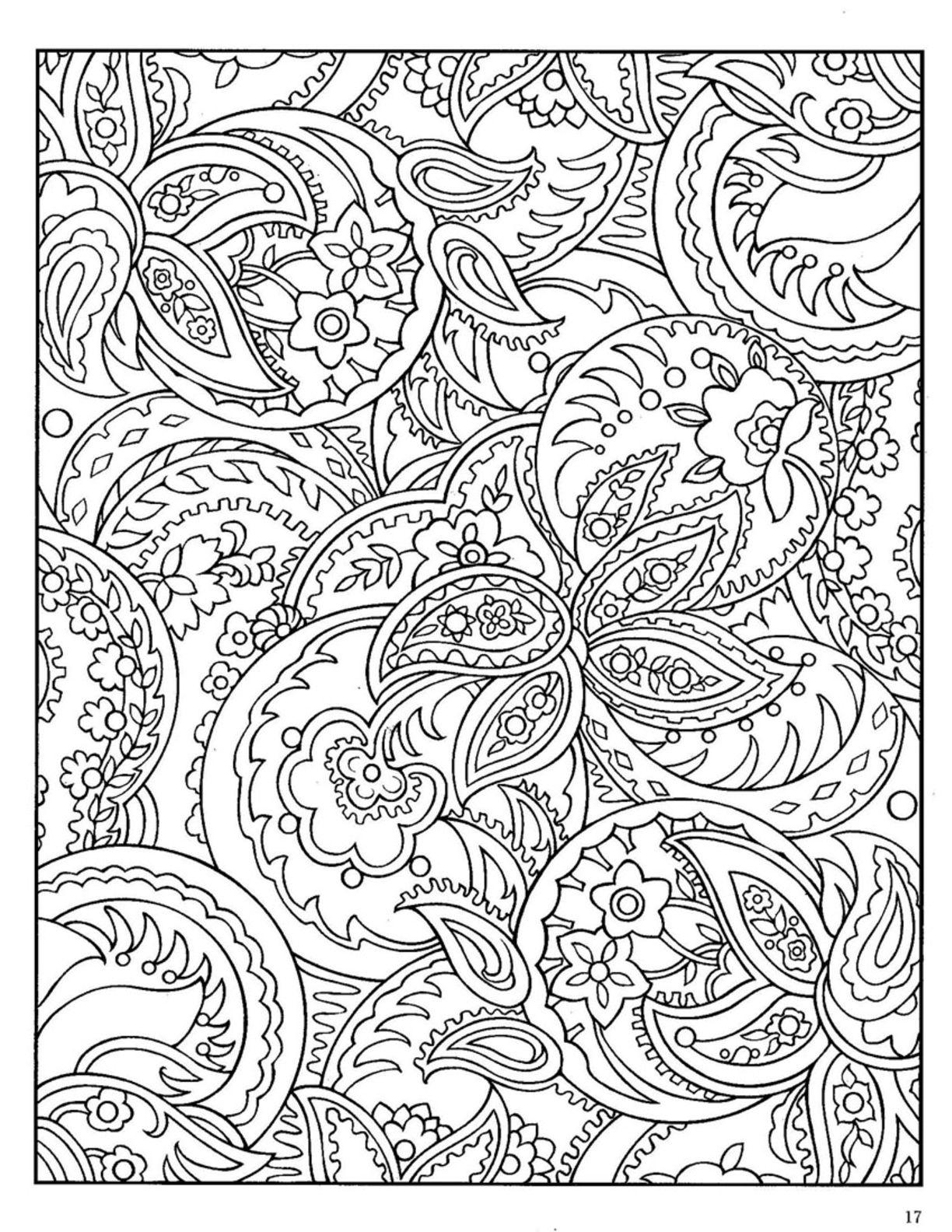 adult animal zentangle paisley designs