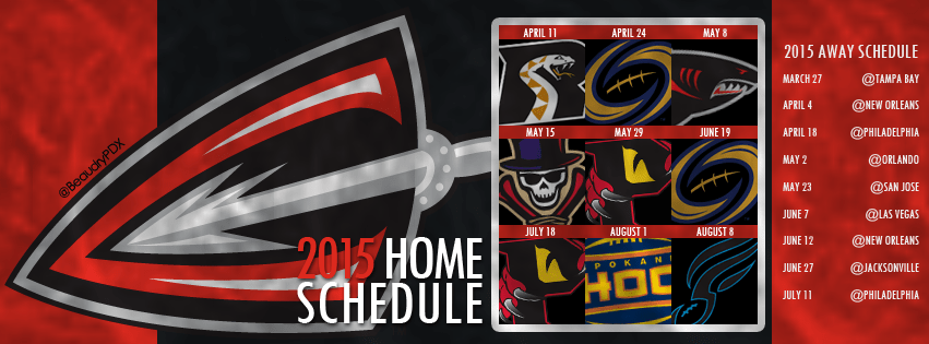 Cleveland Gladiators Schedule FB Cover Image