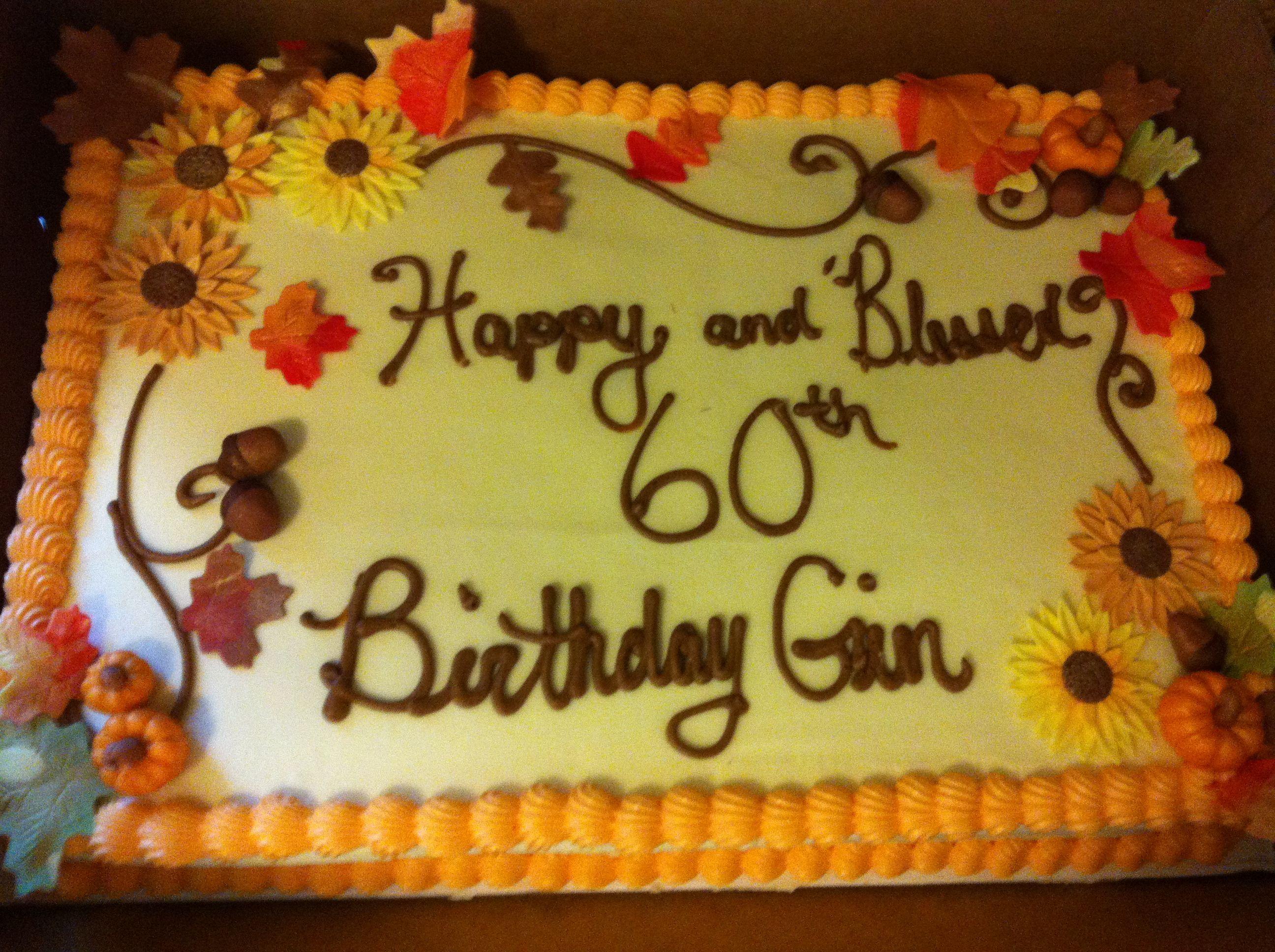 Fall Sheet Cake Ideas