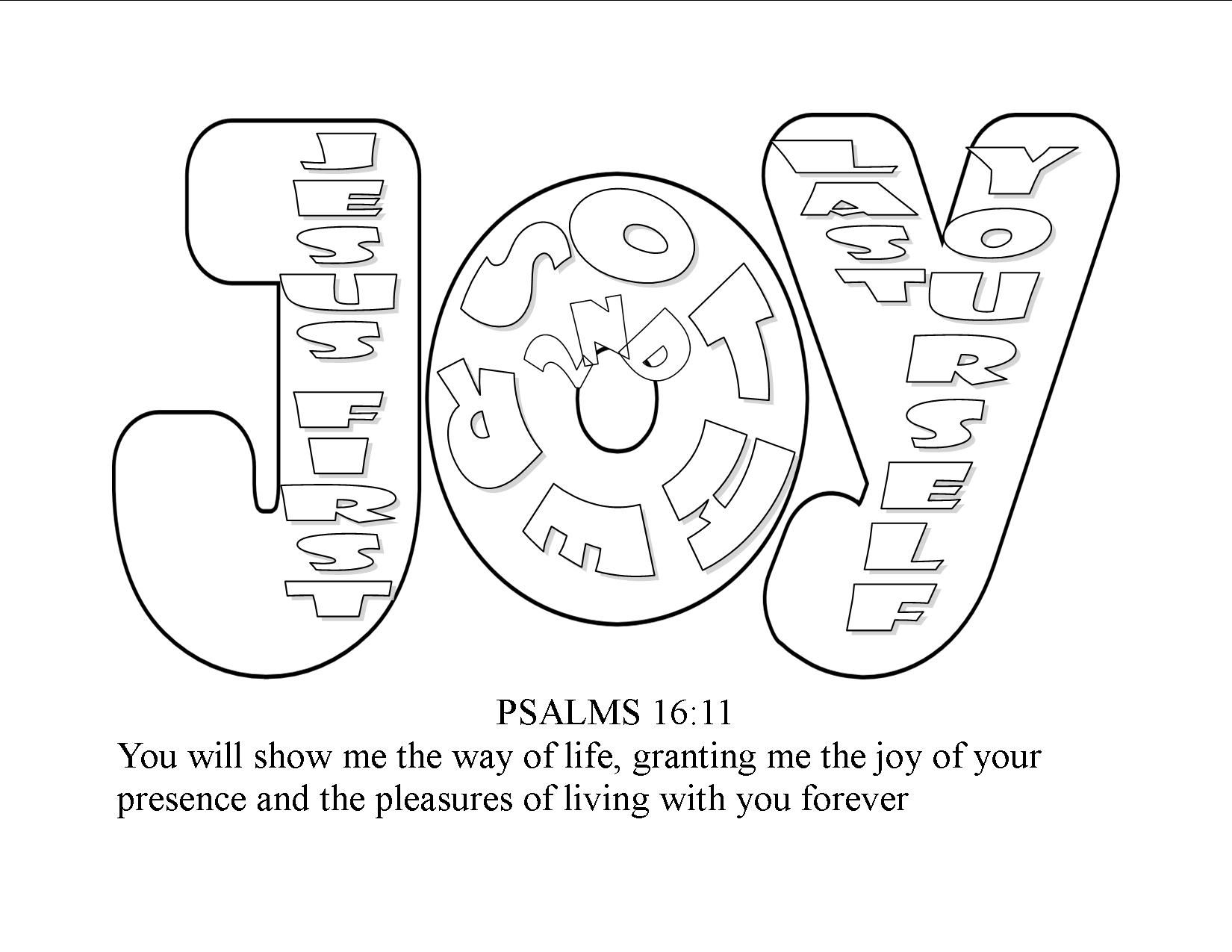 Fruit Of The Spirit Joy Jesus First Others 2nd Yourself Last Coloring Pages
