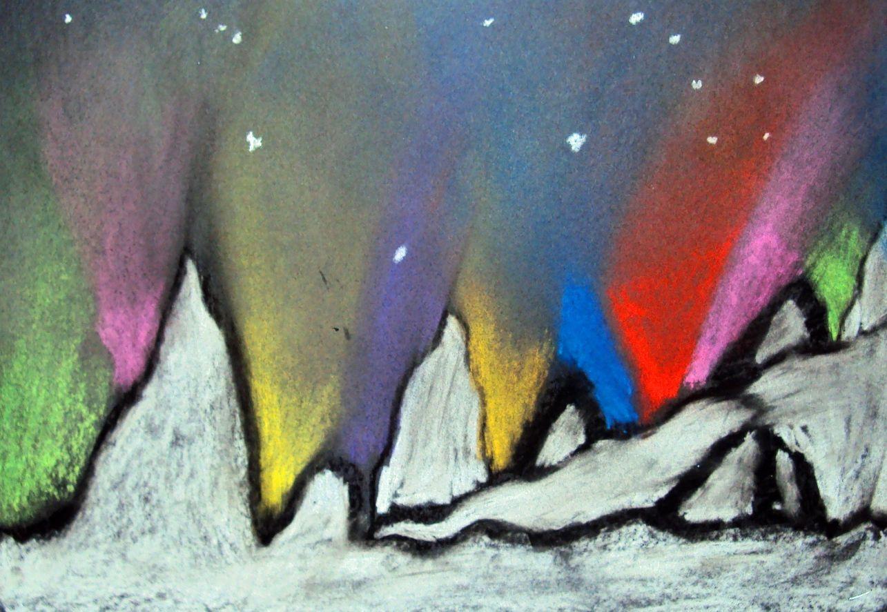 6th Grade Northern Lights Winter Lesson