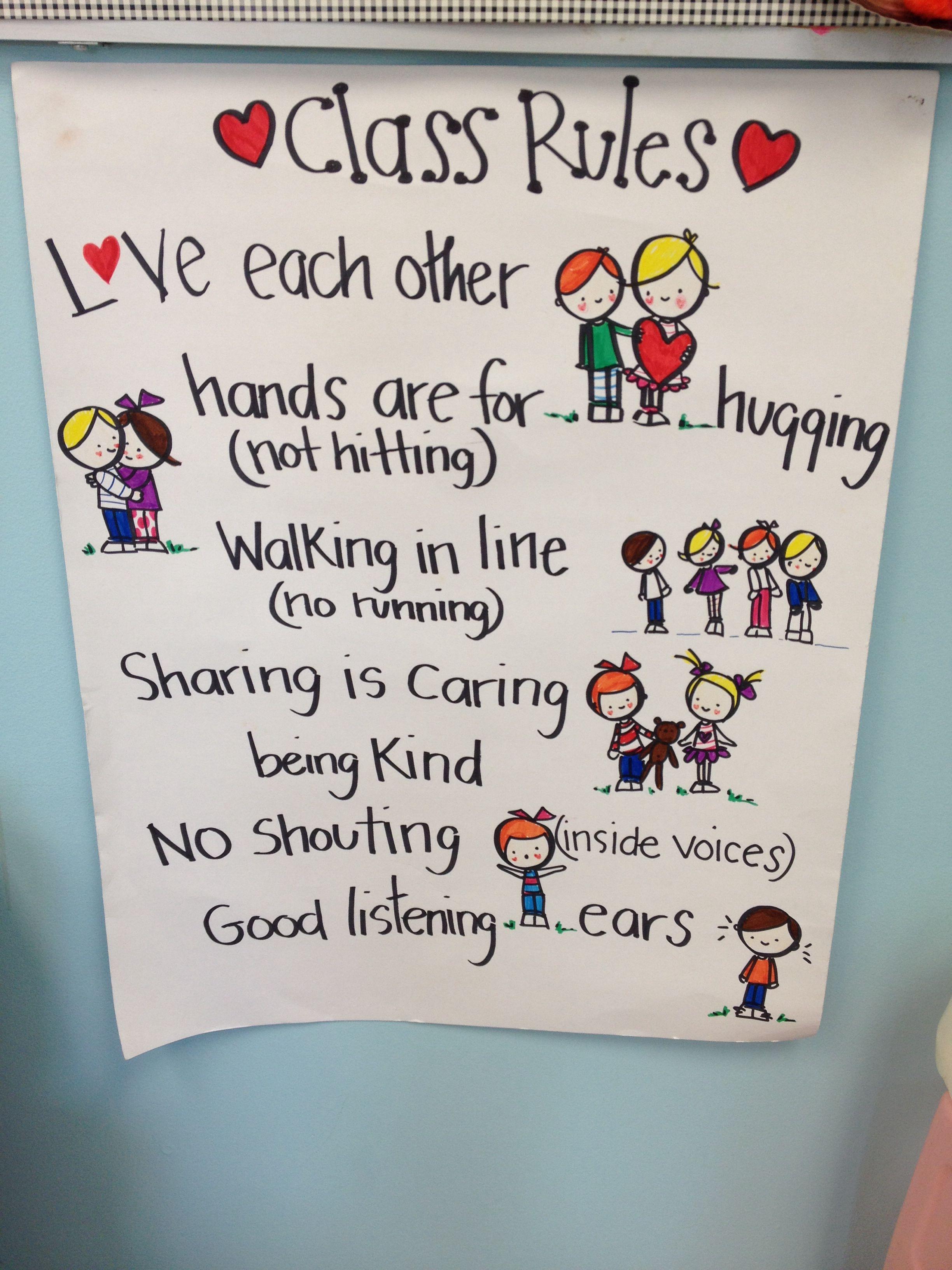 Preschool Rules Preschool