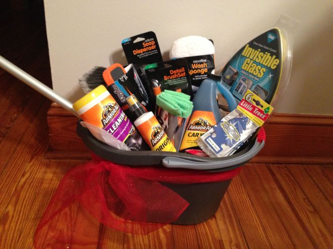 Car wash basket gift baskets and diaper cakes pinterest