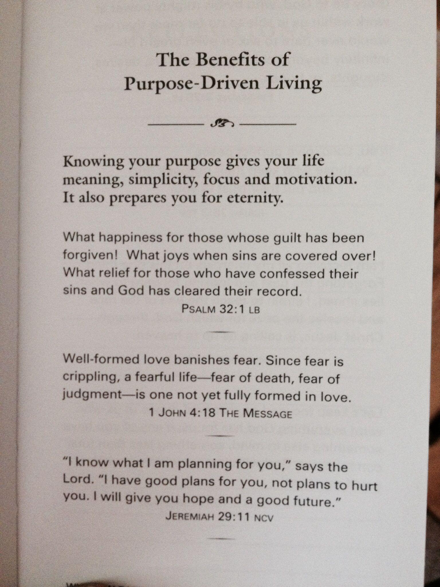 Purpose Driven Life Quotes Quotesgram