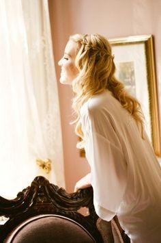 Waterfall braid bridal hair