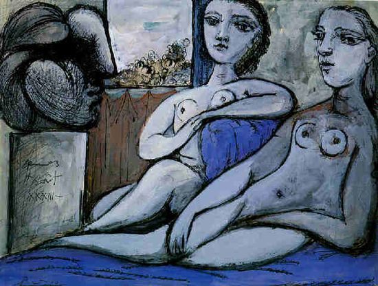 Nudes and bust - Pablo Picasso