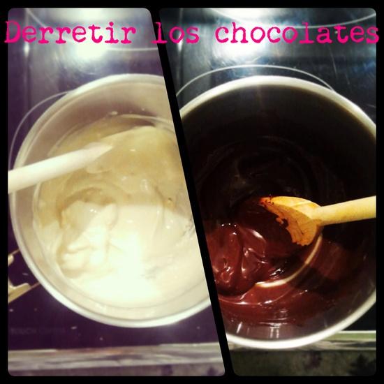Fresas #derretir el chocolate