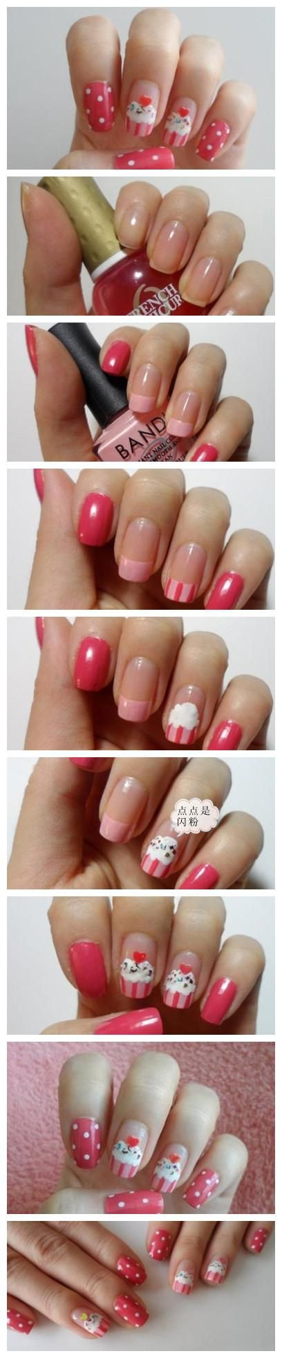 DIY - Cupcake Nail Art ♥