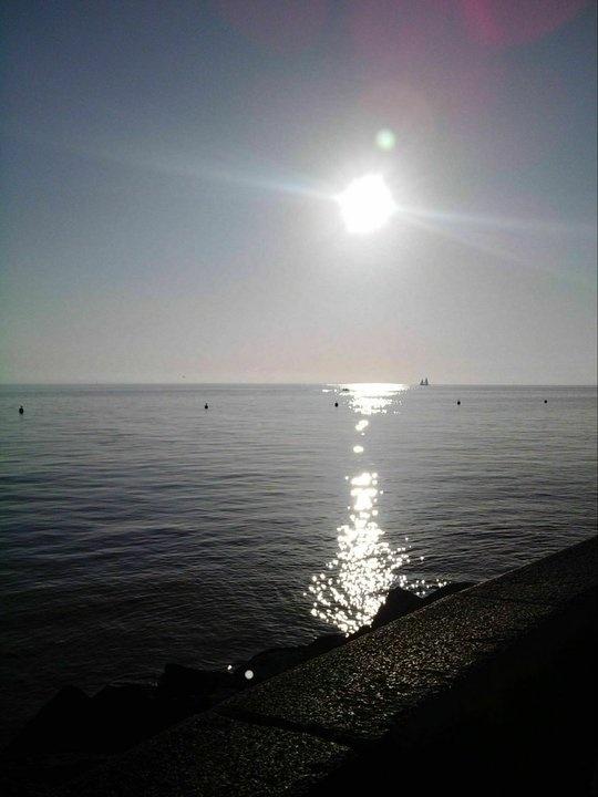 Sunshine on the sea